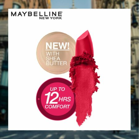 Maybelline New York Color Sensational Creamy Matte Lipstick, 647 Dare to be Red, 3.9 g