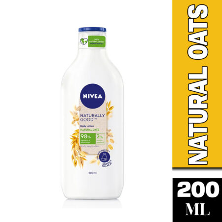NIVEA Naturally Good, Natural Oats Body Lotion, For Dry to Very Dry Skin 200 ml