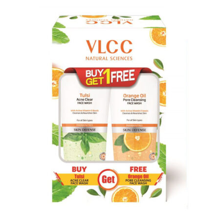 Tulsi Acne Clear Face Wash + Free Orange Oil Pore Cleansing Face Wash (150ml Each)