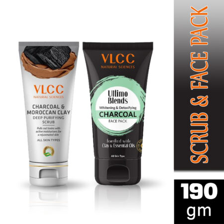 VLCC Charcoal Scrub & Face Pack (Combo)