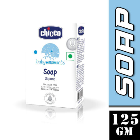 Chicco Baby Moments Soap, Moisturising and Nourishing, 0m+, Dermatologically tested, Paraben free (1