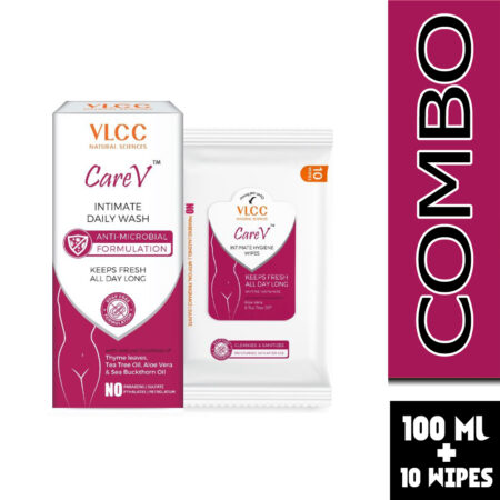 VLCC CareV Intimate Hygiene Wash & Wipes (Combo Pack)