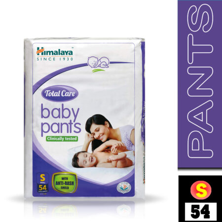Himalaya Total Care Baby Pants Diapers, Small (Upto 7 kg), 54 Count