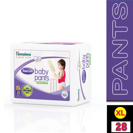 Himalaya Total Care Baby Pants Diapers, Extra Large, 28 Count