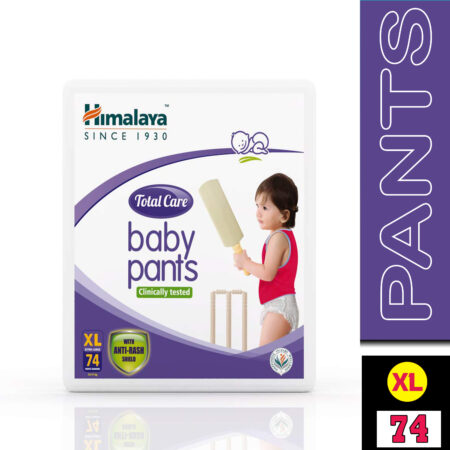 Himalaya Total Care Baby Pants Diapers, Extra Large (12 – 17 kg), 74 Count