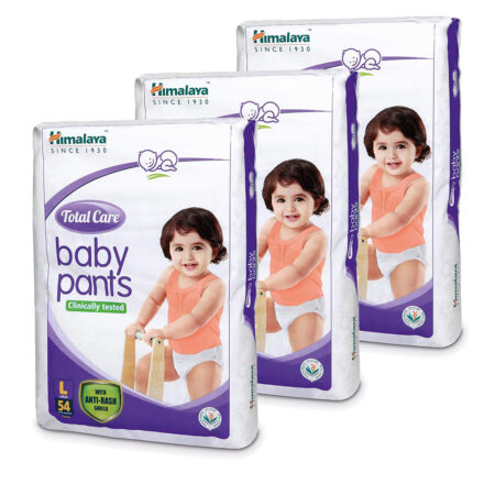 Himalaya Total Care Baby Pants Diapers, Large (8 – 14 kg), 162 Count