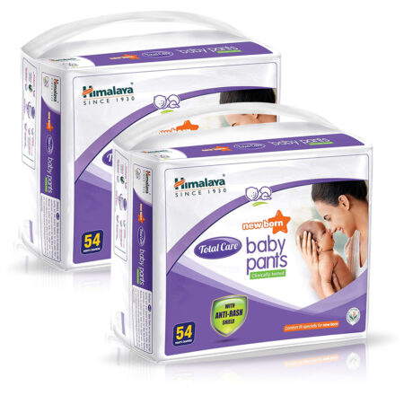 Himalaya Total Care Baby Pants, New Born (Count of 54) Pack of 2
