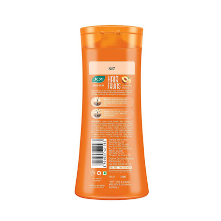 Joy Hair Fruits Long & Silky Conditioning Shampoo Enriched with Apricot & Peach, (340 ml)