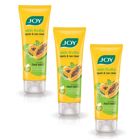 JOY SKIN FRUITS SPOTS & TAN CLEAR FACE WASH, (100ml) Pack of 3