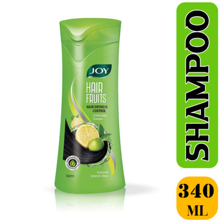 Joy Hair Fruits Hair Dryness Control Conditioning Shampoo Enriched with Lemon & Olives, (340 ml)
