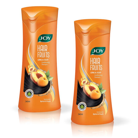 Joy Hair Fruits Long & Silky Conditioning Shampoo Enriched with Apricot & Peach, 340ml (Pa