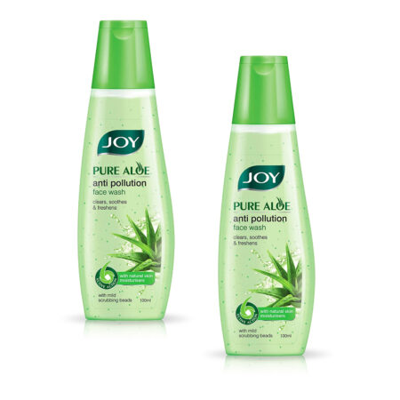 Joy Pure Aloe Anti Pollution Face Wash, 100ml (Pack of 2)