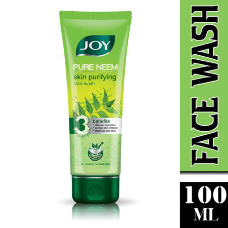 Joy Pure Neem Skin Purifying Face Wash, (100ml) Pack of 2