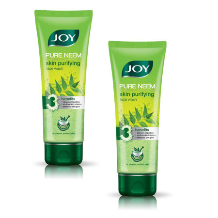 Joy Pure Neem Skin Purifying Face Wash, ( 100ml ) Pack of 2