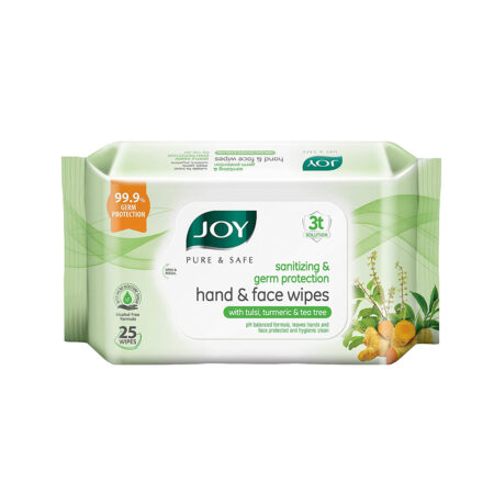 Joy Pure & Safe Germ Protection Hand & Face Sanitizing Wipes (25 Wipes)