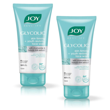 Joy Revivify Glycolic – Skin Firming + Youth Reviving Face Wash, (150 ml) Pack of 2