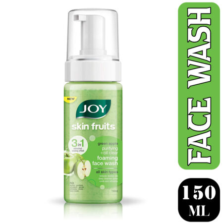 Joy Skin Fruits Green Apple Purifying+Oil Clear Foaming Face Wash, 150ml (Pack of 2)