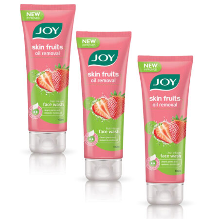 Joy Skin Fruits Oil Removal Face Wash, (100ml) Pack of 3