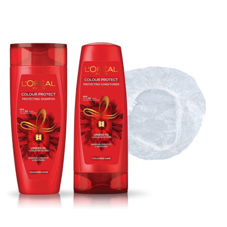 L'Oreal Paris Color Protect Shampoo & Conditioner with Shower Cap (82.5ml + 71.5ml)