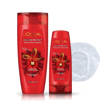 L'Oreal Paris Color Protect Shampoo & Conditioner with Shower Cap (192.5ml + 71.5ml)