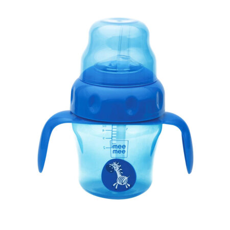 Mee Mee 2 in 1 Spout & Straw Sipper Cup, Blue (150ml)