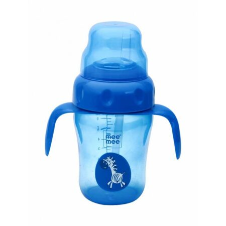 Mee Mee 2 in 1 Spout & Straw Sipper Cup, Blue, (210ml)