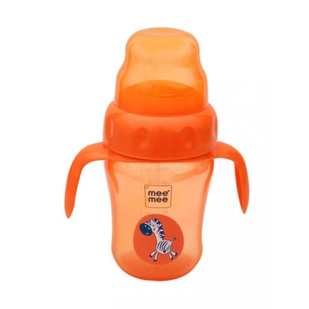 Mee Mee 2 in 1 Spout & Straw Sipper Cup, Orange, (210ml)