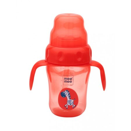 Mee Mee 2 in 1 Spout & Straw Sipper Cup, Red, (210ml)