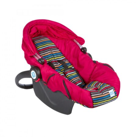 Mee Mee 3 In 1 Baby Car Seat, Carry Cot & Rocker, (Red)