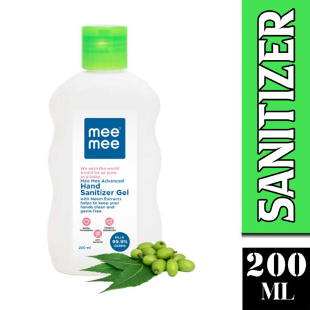 Mee Mee Advanced Hand Sanitizer Gel With Neem Extracts (200ml) Pack of 2