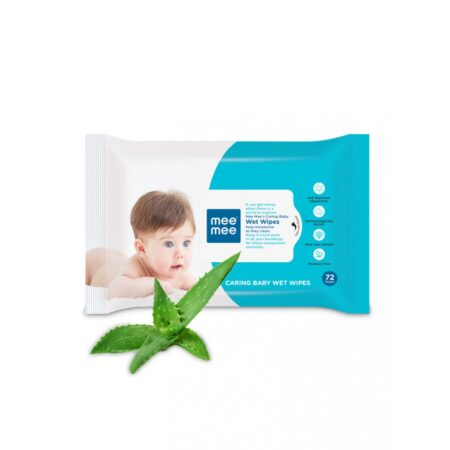 Mee Mee Caring Baby Wipes With Aloe Vera, (72 Pcs) Pack of 5