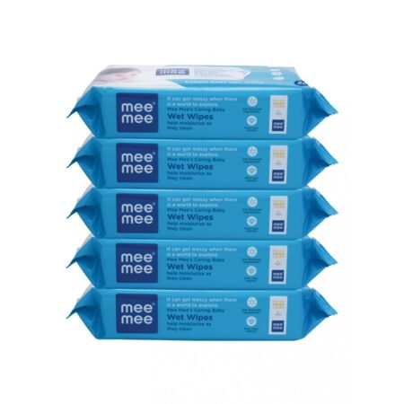 Mee Mee Caring Baby Wipes With Aloe Vera, (30 Pcs) Pack of 5