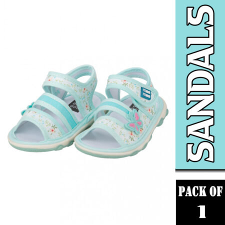 Mee Mee First Walk Baby Sandals With Chu Chu Sound (Butterfly) Sky Blue