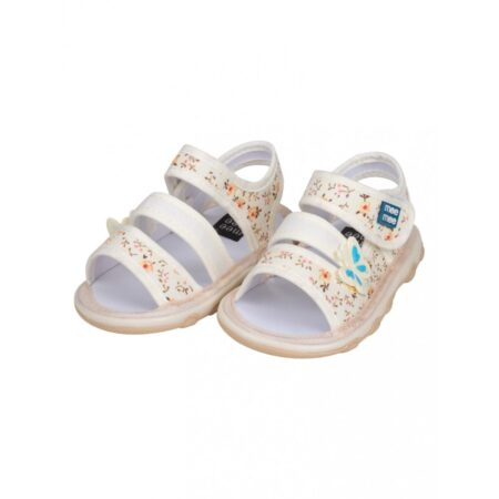 Mee Mee First Walk Baby Sandals With Chu Chu Sound (Butterfly) Grey