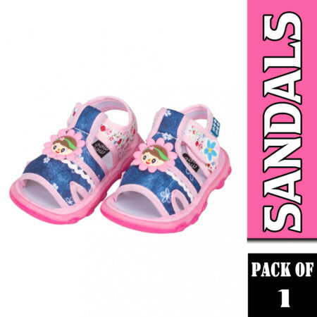 Mee Mee First Walk Baby Sandals With Chu Chu Sound (Pink & Blue)