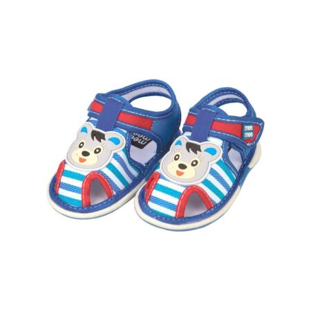 Mee Mee First Walk Baby Sandals With Chu Chu Sound (Stripes), Blue