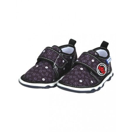 Mee Mee First Walk Baby Shoes With Chu Chu Sound (Abstract Print) (Grey)
