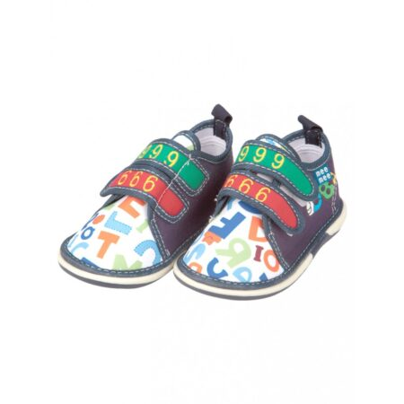 Mee Mee First Walk Baby Shoes With Chu Chu Sound (Number Print) Grey