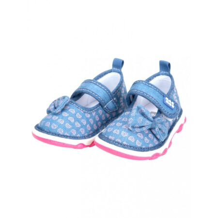 Mee Mee First Walk Baby Shoes With Chu Chu Sound (Ribbon Bow) Blue