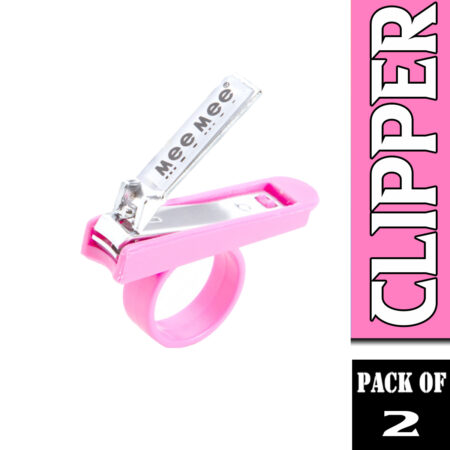 Mee Mee Gentle Nail Clipper With Easy Grip, (Pink) Pack of 2