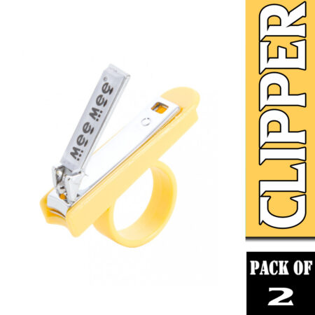Mee Mee Gentle Nail Clipper With Easy Grip, (Yellow) Pack of 2