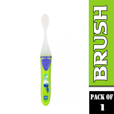 Mee Mee Kids Toothbrush With Lights And Easy Grip Handle, (Green)