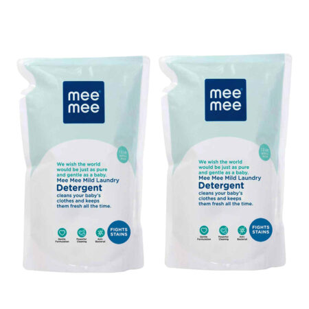 Mee Mee Mild Baby Liquid Laundry Detergent (1.2Ltr – Refill Pack) Pack of 2