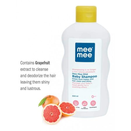 Mee Mee Mild Baby Shampoo And Nourishing Baby Oil With Fruit Extracts (Combo Pack)