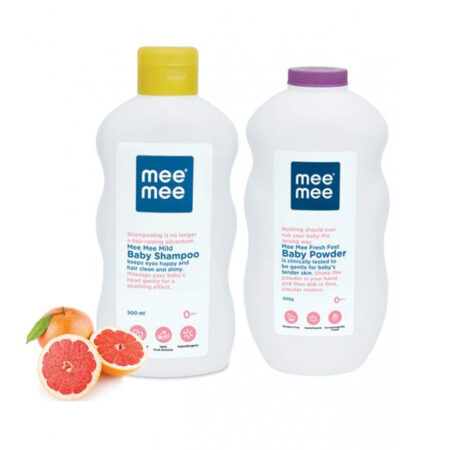 Mee Mee Mild Baby Shampoo With Fruit Extracts And Fresh Feel Baby Powder (500ml + 500g)