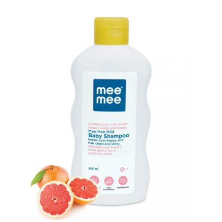 Mee Mee Mild Baby Shampoo And Soft Moisturizing Baby Lotion With Fruit Extracts (500ml + 500ml)