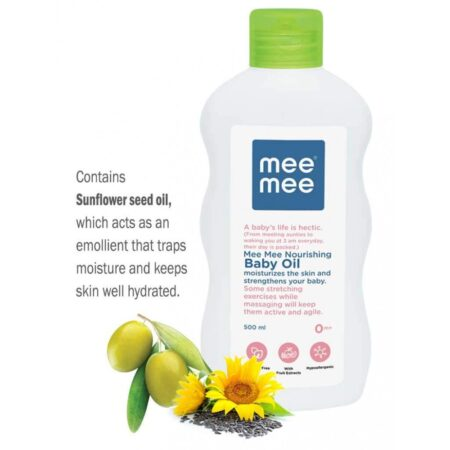 Mee Mee Soft Moisturizing Baby Lotion And Nourishing Baby Oil With Fruit Extracts (500ml + 500 ml)