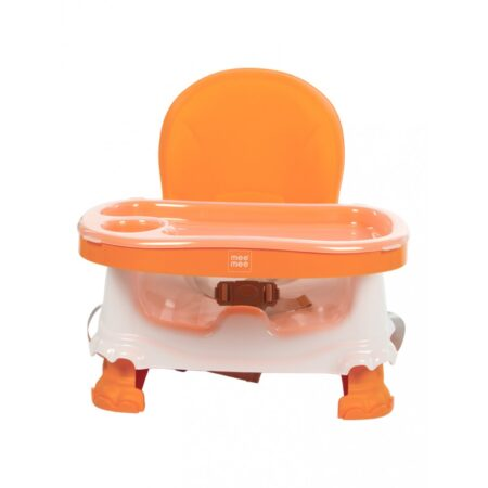Mee Mee Safe Booster Seat With Adjustable Feeding Tray (Orange)