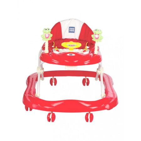 Mee Mee Simple Steps Baby Walker With Stopper (Red)