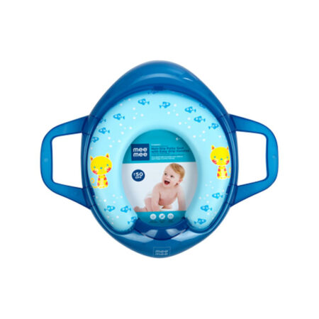 Mee Mee Soft Cushioned Non-Slip Potty Seat With Easy Grip Handles (Regular Blue)